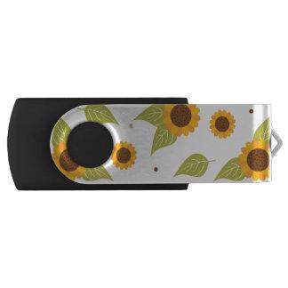 Clé USB Motif de tournesol d'automne