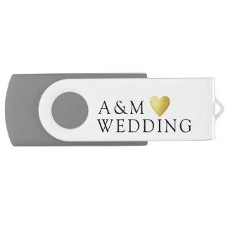 Clé USB nos photos de mariage sauvées sur a