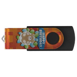 Clé USB Nounours de joyeux anniversaire d'illustration