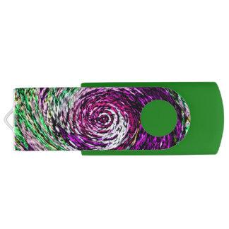 Clé USB Personnalisable pourpre et vert de Twirly