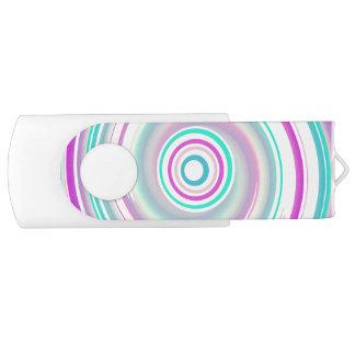 Clé USB Pourpre et remous turquoise - blanc 16 gigaoctets