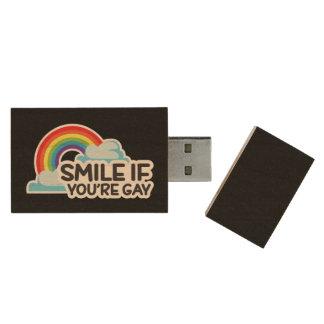 Clé USB Souriez si vous êtes fierté gaie de l'arc-en-ciel