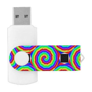 Clé USB Spirale d'arc-en-ciel