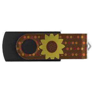 Clé USB Tournesol rustique d'automne