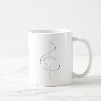 Clef triple de lt Blue Brushstroke Mug