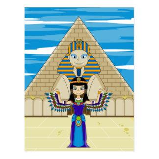 Cléopâtre à la grande carte postale de sphinx