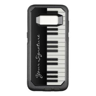 Clés de piano avec la signature coque samsung galaxy s8 par OtterBox commuter