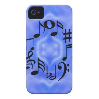 Clés noires de note de musique coque iPhone 4 Case-Mate