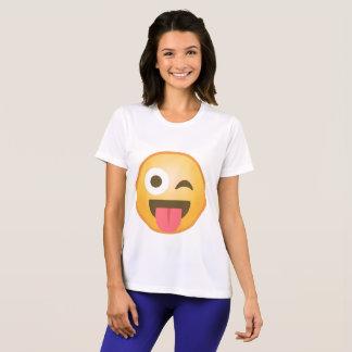 Cligner de l'oeil la langue Emoji T-shirt