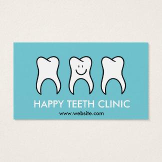 Clinique dentaire de dentiste bleu avec la cartes de visite