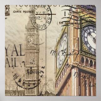 Clocktower grand Ben de la Grande-Bretagne Poster