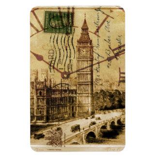 Clocktower grand Ben de pont de tour de Londres Magnet Flexible