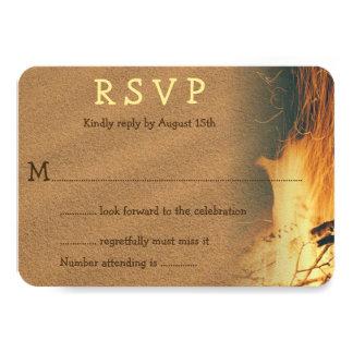 Clôture du mariage de plage de feu RSVP Carton D'invitation 8,89 Cm X 12,70 Cm