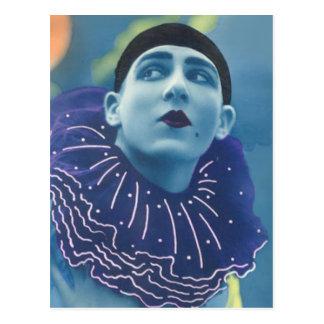 Clown bleu d'opéra carte postale