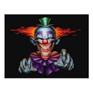 Clown de mal de tueur carte postale