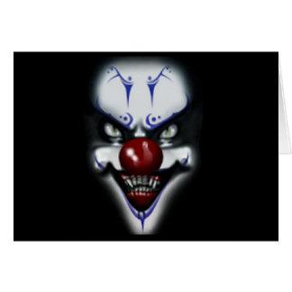 Clown effrayant d'anniversaire carte