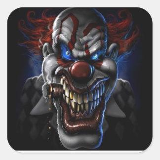 Clown et cigare mauvais sticker carré