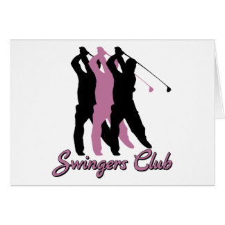 Club drôle de partouzeurs de golf carte de vœux