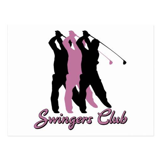 Club drôle de partouzeurs de golf cartes postales