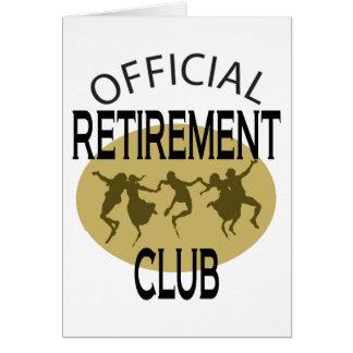 Club officiel de retraite carte de vœux