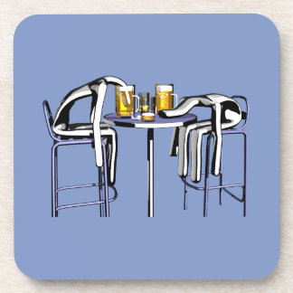 Coasters Coups de bar 4 homme sans logo Sous-bocks