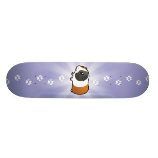 Cobaye de bande dessinée (cheveux lisses) skateboard