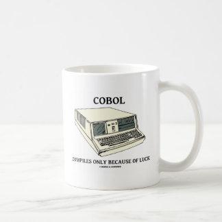 COBOL compile seulement en raison de la chance Mug Blanc