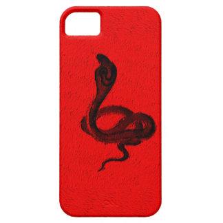 Cobra sur la conception animale rouge coques iPhone 5