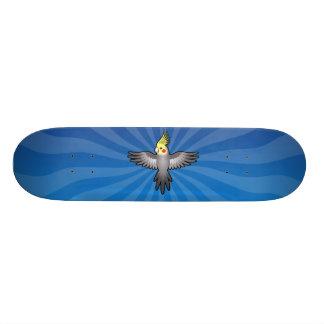 Cockatiel de bande dessinée plateau de skateboard