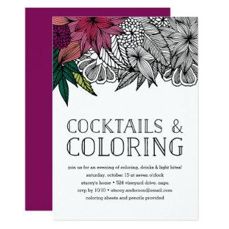 Cocktails en het Kleuren de Uitnodiging van de