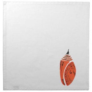 Cocon orange de papillon serviettes de table