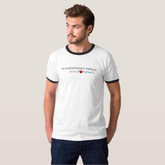 Codage de python d'amour - amant de python t-shirt