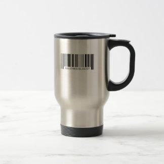 Code barres d'anesthésiste mug de voyage