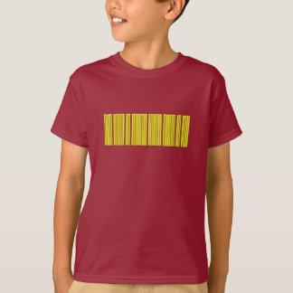 Code barres d'or t-shirt