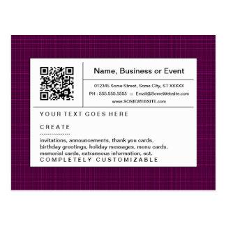 code de raffinage de QR : plaid magenta Carte Postale