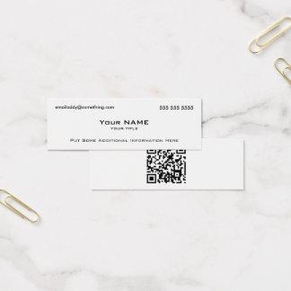 Code moderne du blanc QR Mini Carte De Visite