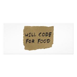 Codera pour la nourriture cartes doubles
