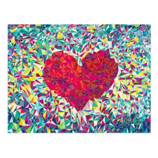 Coeur abstrait élégant carte postale