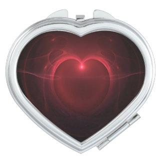 Coeur allumé par rouge au-dessus d'illustration