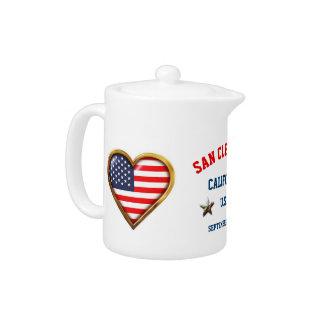 Coeur américain customisé avec tous ville et état