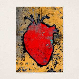 coeur anatomique cartes de visite