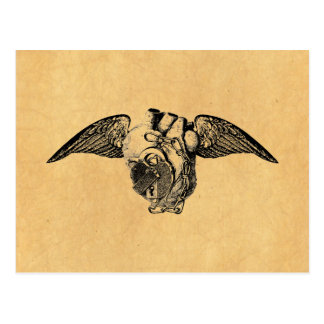 Coeur avec des serrures et des ailes carte postale