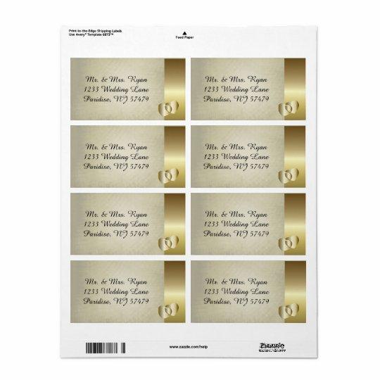 Coeur chic vintage d'or étiquettes d'expédition