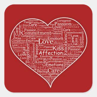 Coeur complètement des autocollants d'amour