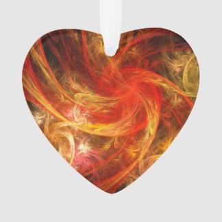 Coeur d'acrylique d'art abstrait de nova de