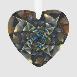 Coeur d'acrylique d'art abstrait de soleil