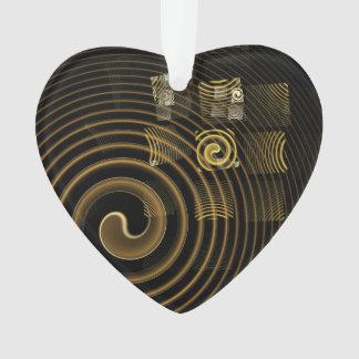 Coeur d'acrylique d'art abstrait d'hypnose
