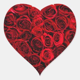 Coeur d'autocollant de roses sticker cœur