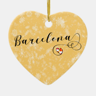 Coeur de Barcelone, ornement d'arbre de Noël
