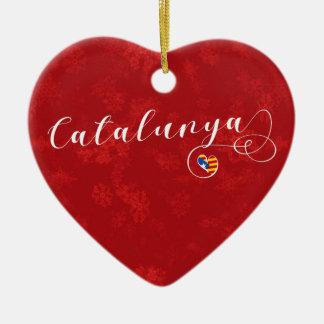 Coeur de Catalunya, ornement d'arbre de Noël,